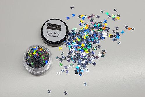Silver Holo Butterflies
