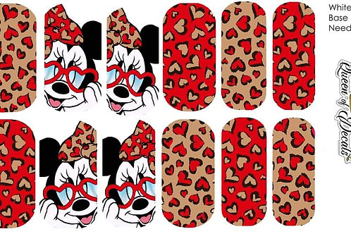 Minnie Love Red and Nude Queen Of Decals