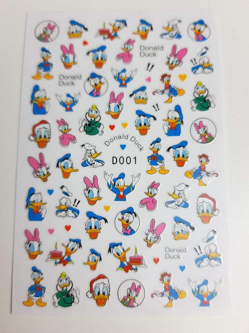 Donald Duck Sticker Sheet D001
