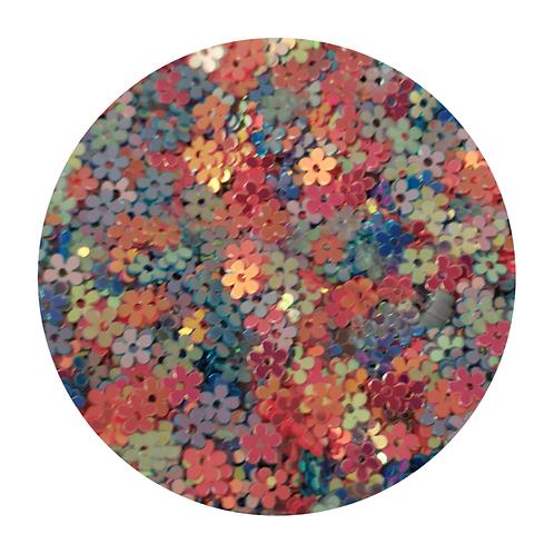Bubblegum Flowers Glitter Pot