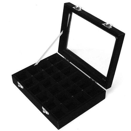 Black Velvet Crystal Storage Box