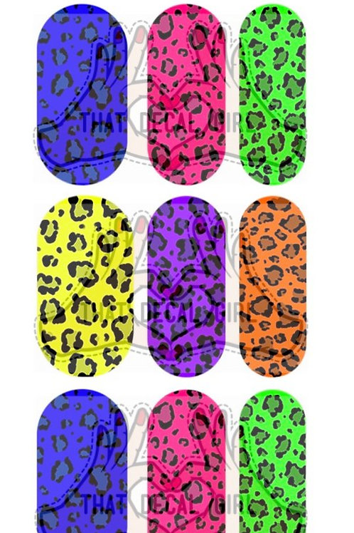 Coloured Leopard Decals