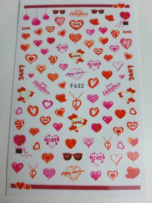 Nail Sticker Sheet F632
