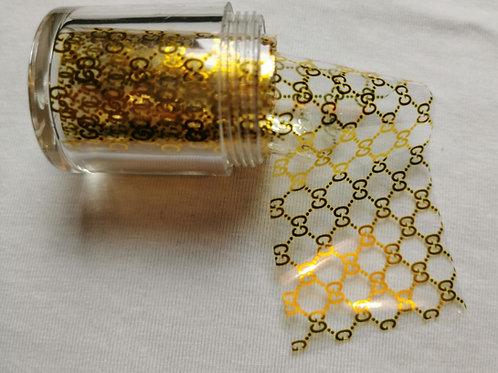 Designer Inspired Foil Pot Logo Gold