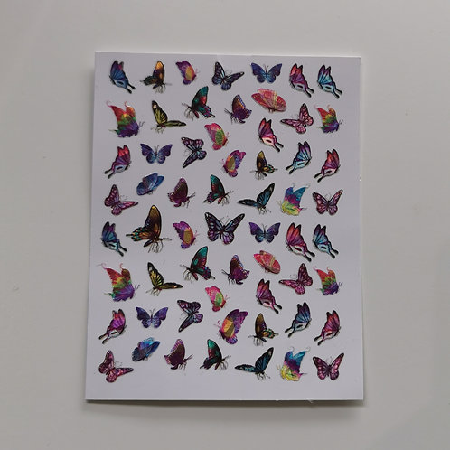 Holo Butterflies Stickers 6