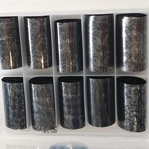 Black Pattern Foil Box