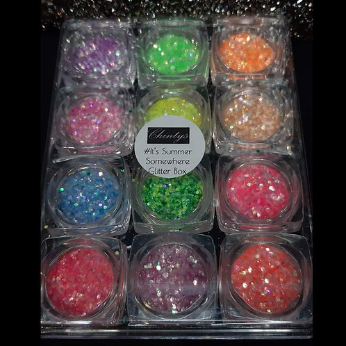 Set Of 12 Glitters- #It's Summer Somewhere