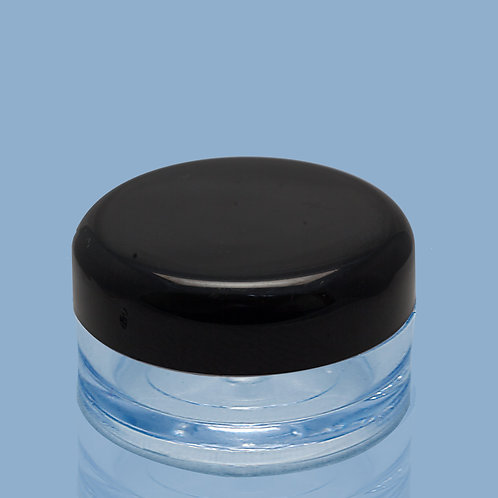 12x 5g clear pots with black lids