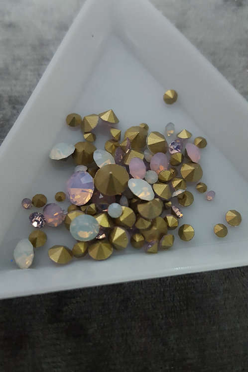 Opal pointed back crystals