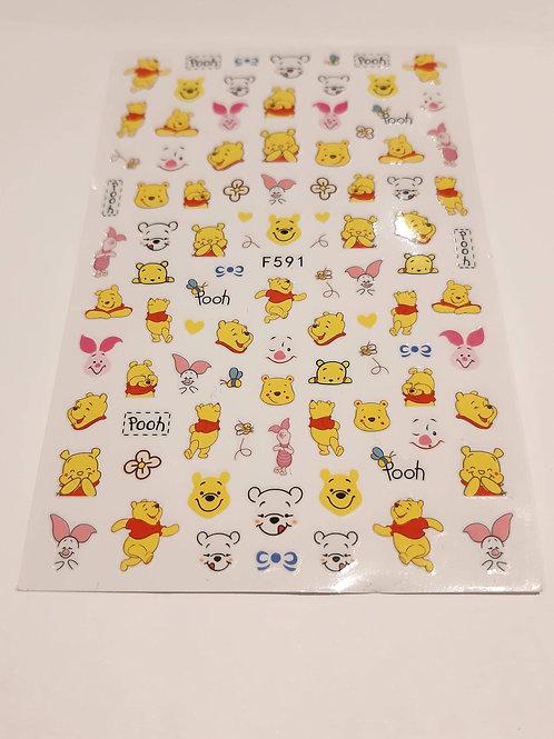 Nail Sticker Sheet F591