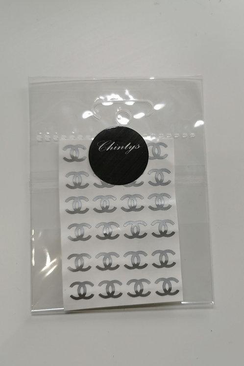 Brand Silver Stickers CC