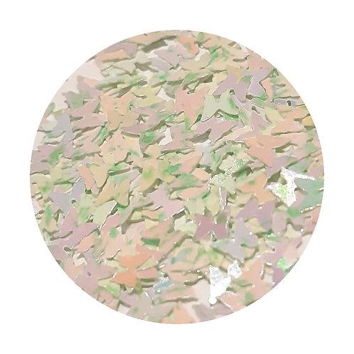 Mint Crumble Butterflies Glitter Pot