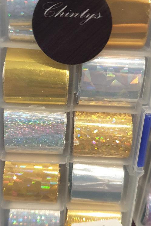 Silver & Gold Foil Box