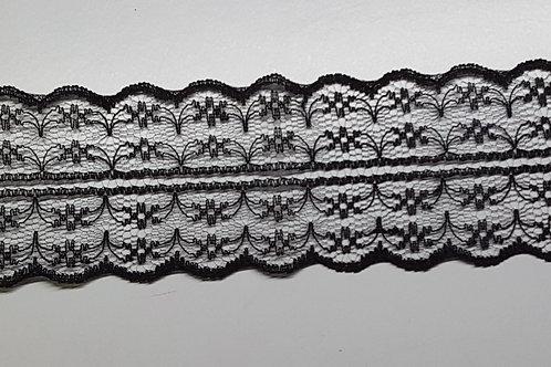 Lace strip black