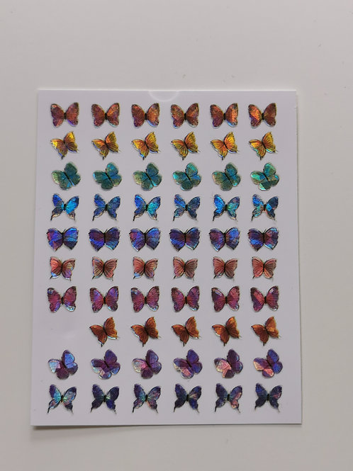 Holo Butterflies Stickers 14