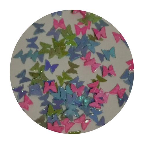 Retro Butterflies Glitter Pot