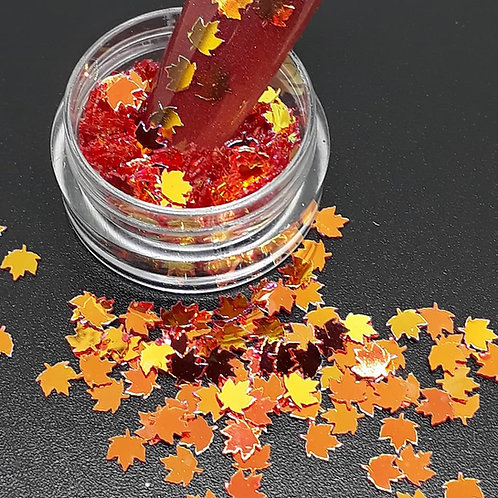 Autumn Leaves Glitter Pot