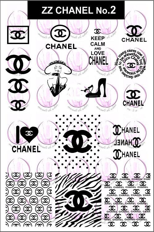 ZZ Chanel No.2 Mundo De Unas Stamping Plate