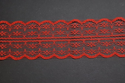 lace strip red