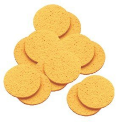 Hive Cellulose Yellow Mask Removing Sponges (12) Round 10cm