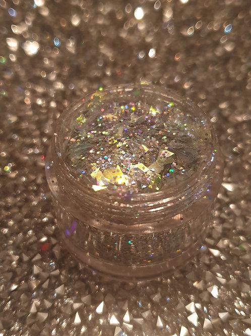 Glitzy Silver Glitter Pot