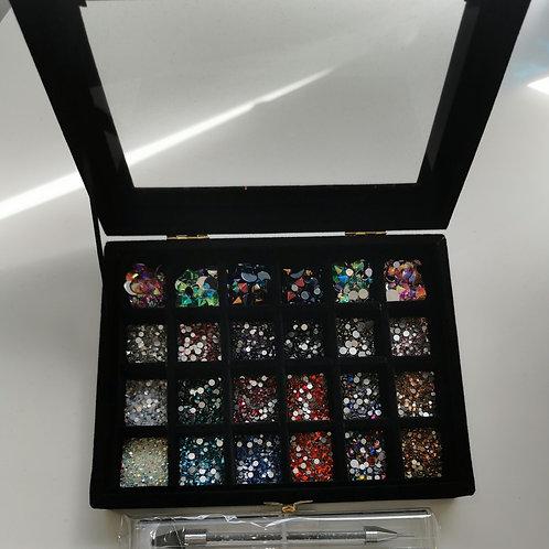 Crystal Tray & Crystals