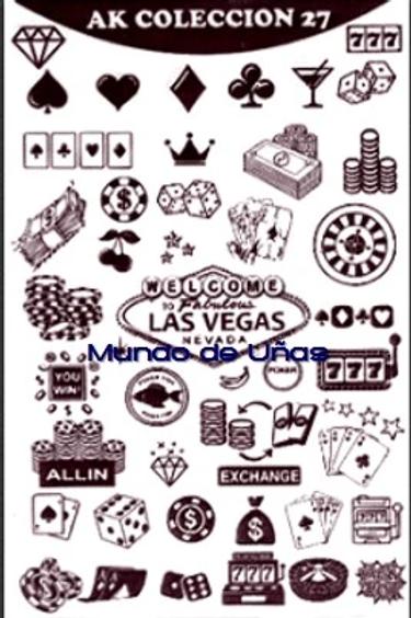 Las Vegas Mundo De U?as Stamping Plate
