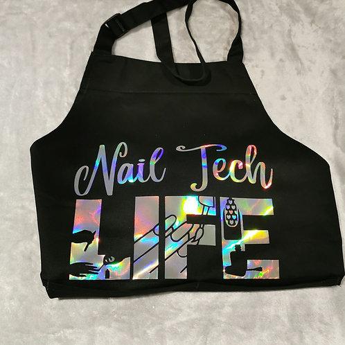 Nail Tech Life Apron - Silver