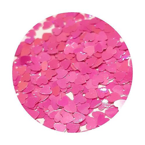 Pearl Dark Pink Hearts Glitter Pot