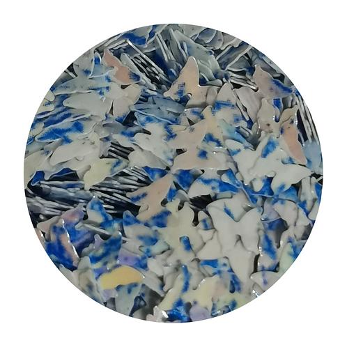 Blueberry Crush Butterflies Glitter Pot