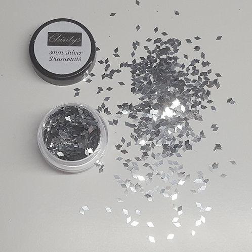 3mm Silver Diamonds