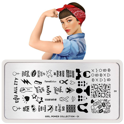 MoYou Girl Power 01 Stamping Plate