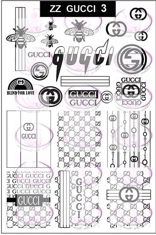 Zz Gucci 3 Mundo De U?as Stamping Plate
