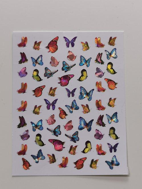 Holo Butterflies Stickers 13