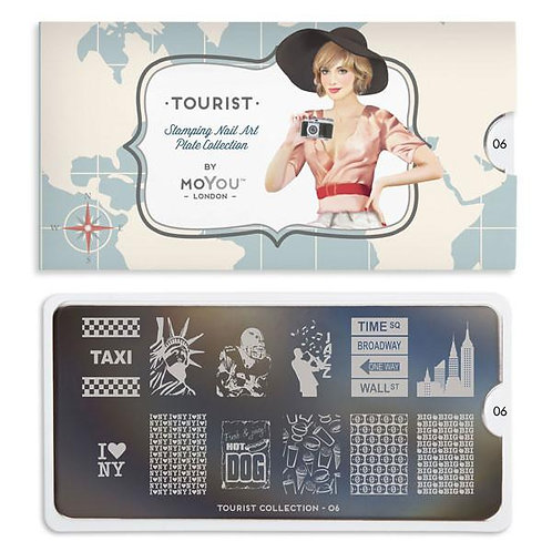 MoYou Tourist 06 Stamping Plate