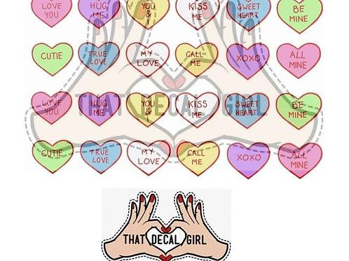 Love hearts Decals