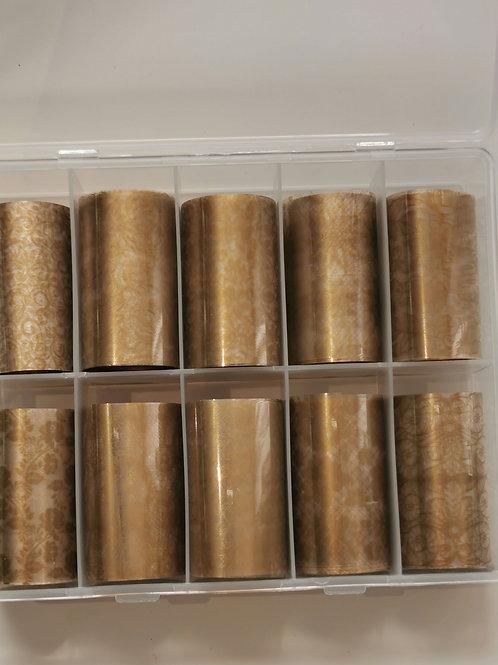 Delicate Gold Foil Box