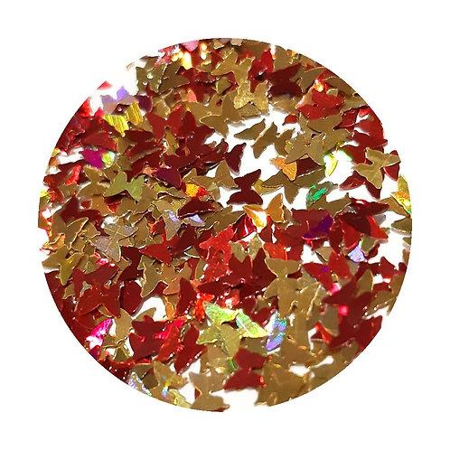 Fall Butterflies Glitter Pot