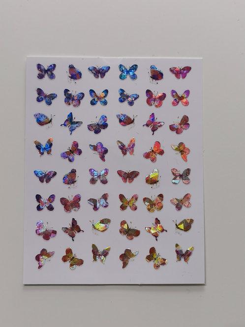 Holo Butterflies Stickers 10