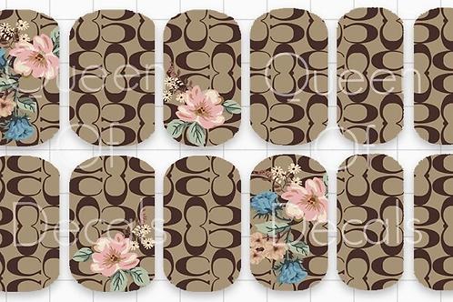 Designer Inspired Cc Floral Decals