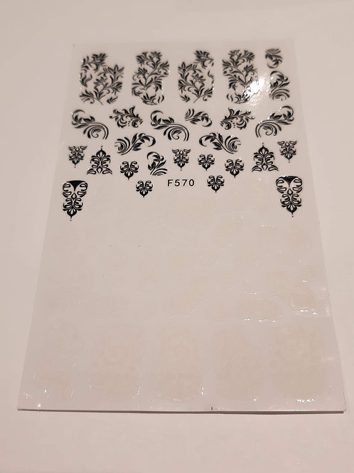 Nail Sticker Sheet F570