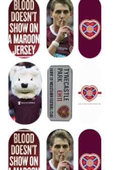 Hearts Fc Inspired Decals