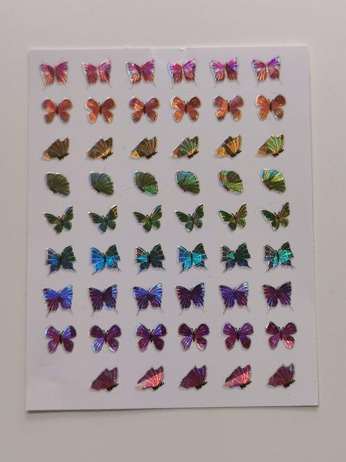 Holo Butterflies Stickers 12