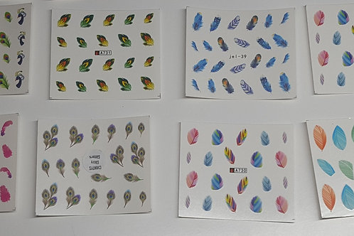 Feather water decals pack of 5