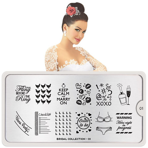 MoYou Stamping Plate- Bridal 01