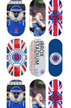 Rangers Fc Inspired Nail Decals