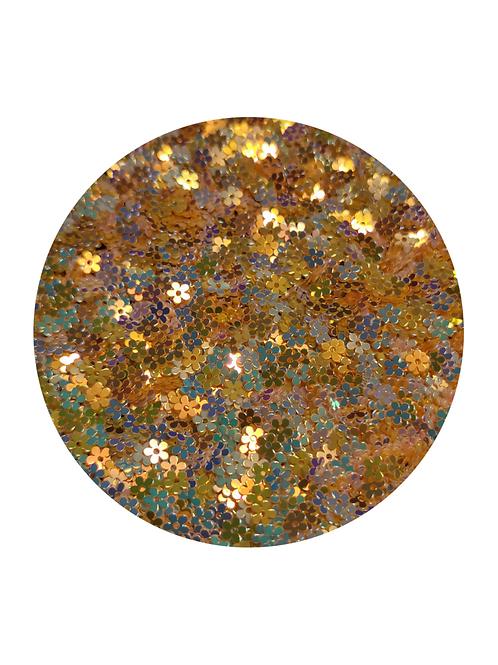 Apricot Flowers Glitter Pot