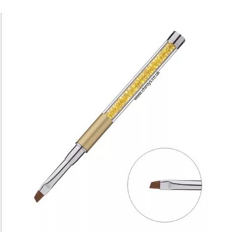 Gold Slanted Nail Art Brush With Cap