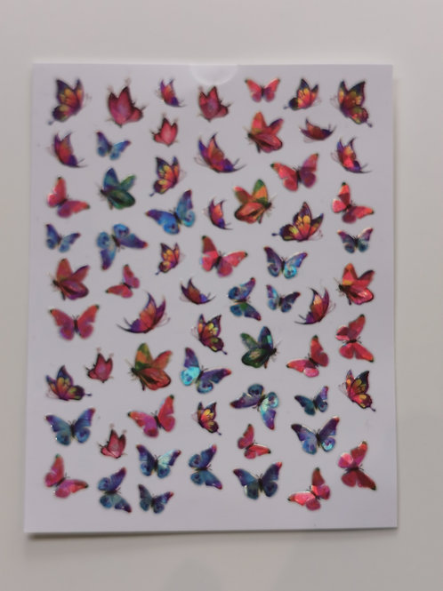 Holo Butterflies Stickers 11