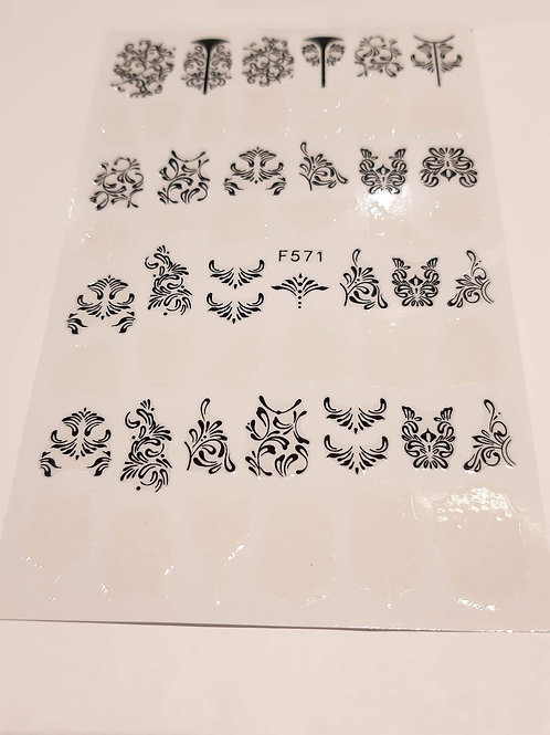 Nail Sticker Sheet F571